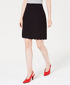 Maison Jules Scallop-Hem Pencil Skirt, Created for Macy's