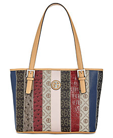 Giani Bernini Patchwork Stripe Tote, Created for Macy's