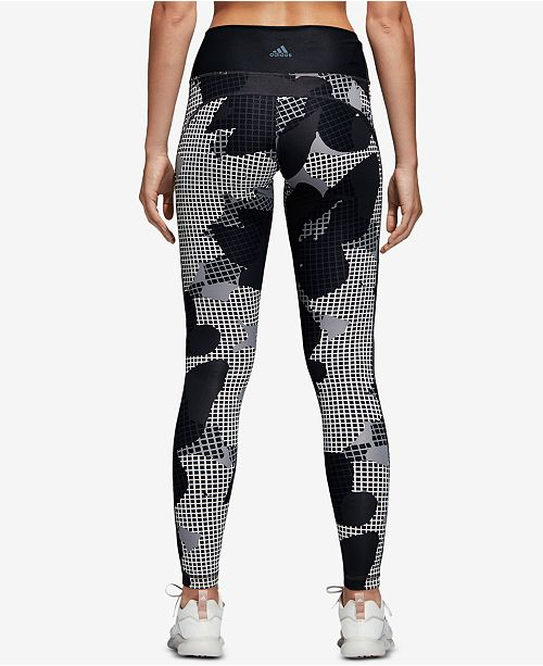dd813df1edb004 ... adidas Believe This Printed High-Rise Printed Ankle Leggings ...
