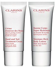 Choose your FREE 2pc gift with any $75 Clarins purchase!