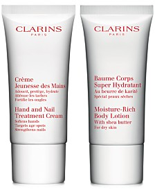 Get Even More! Free 2pc Hand and Body gift with your $125 Clarins Purchase!