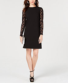 MICHAEL Michael Kors Lace-Sleeve Shift Dress