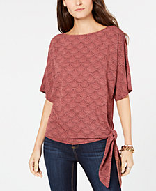MICHAEL Michael Kors Chandelier Side-Tie Top
