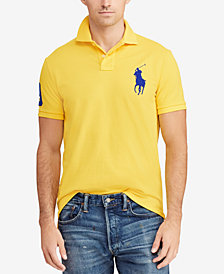Polo Ralph Lauren Men's Big Pony Custom Slim Fit Mesh Polo, Created for Macy's