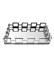 Classic Touch Square Mirrored Tray