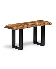 "Alpine Natural Live Edge Wood 36"" Bench"