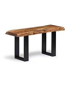 "Alaterre Furniture Alpine Natural Live Edge Wood 36"" Bench"