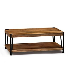 Ryegate Natural Live Edge Solid Wood with Metal Coffee Table