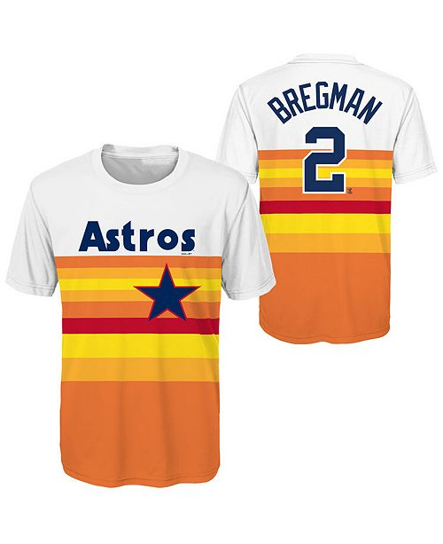 new styles ccf33 e894d Outerstuff Alex Bregman Houston Astros Coop Poly Player T ...