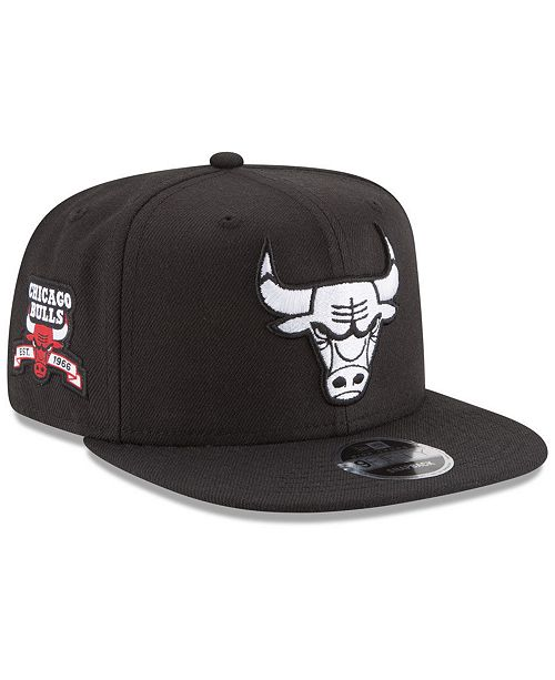 New Era Chicago Bulls Anniversary Patch 9FIFTY Snapback Cap - Sports ... 4a5864db51c