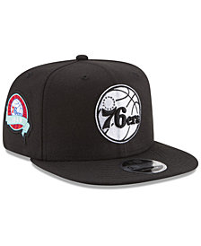 premium selection c803a 3aff9 New Era Philadelphia 76ers Anniversary Patch 9FIFTY Snapback Cap
