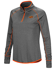 Colosseum Women's Oklahoma State Cowboys Shark Quarter-Zip Pullover