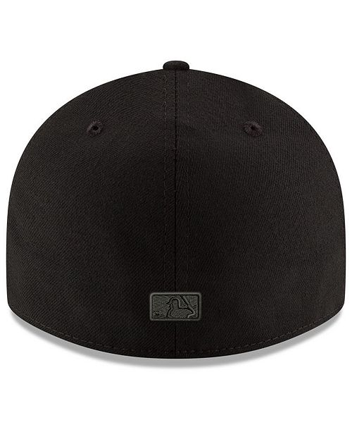 pretty nice f3718 15502 New Era New York Yankees Triple Black Low Profile 59FIFTY Fitted Cap ...