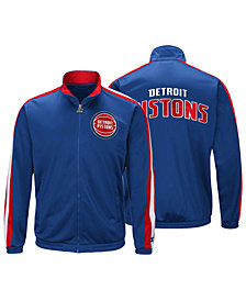G-III Sports Men's Detroit Pistons The Challenger Starter Track Jacket