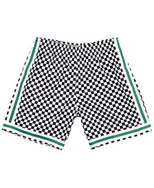 Men's Boston Celtics Checkerboard Swingman Shorts