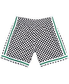 Mitchell & Ness Men's Boston Celtics Checkerboard Swingman Shorts