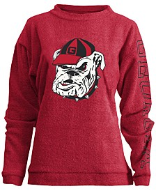 Pressbox Women's Georgia Bulldogs Comfy Terry Sweatshirt