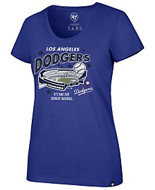 '47 Brand Women's Los Angeles Dodgers Club Scoop Logo T-Shirt