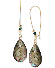 Robert Lee Morris Soho Gold-Tone Abalone-Look Teardrop Earrings
