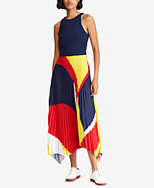 Polo Ralph Lauren Pleated Georgette Dress