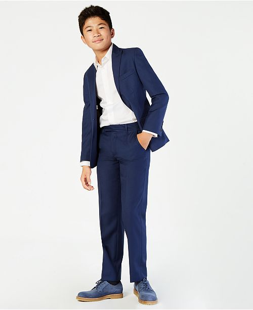 Calvin Klein  Boys' Infinite Stretch Jacket, Vest & Pants Separates
