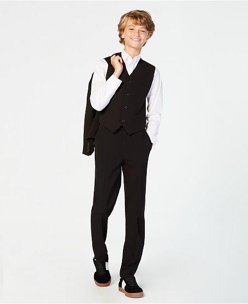 fc3bba990749 Calvin Klein Big Boys Slim Fit Stretch Suit Pants   Reviews ...