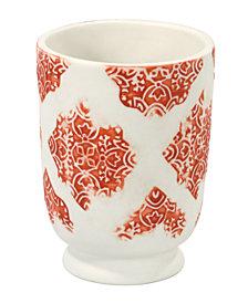 John Robshaw Lakki Stamped Porcelain Tumbler