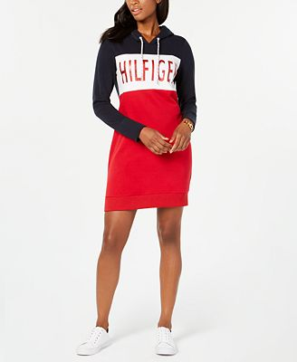 Tommy Hilfiger Hooded Sweatshirt Dress Created For Macys Dresses