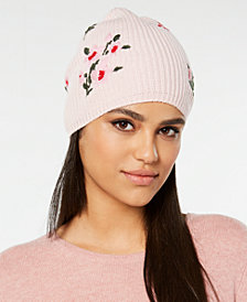 kate spade new york In Bloom Wool Embroidered Beanie