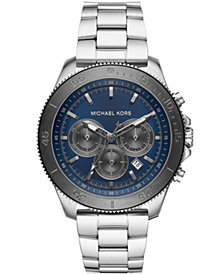Michael Kors Men's Chronograph Theroux Stainless Steel Watch 44.5mm