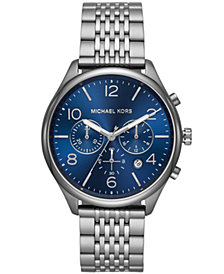 Michael Kors Men's Chronograph Merrick Gunmetal Stainless Steel Bracelet Watch 42mm