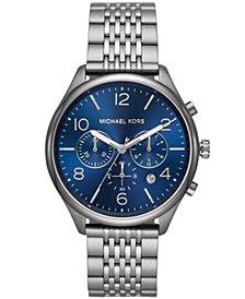 Michael Kors Men's Chronograph Merrick Gunmetal Stainless Steel Bracelet Watch 42mm