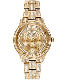 Women's Runway Gold-Tone Stainless Steel Bracelet Watch 38mm