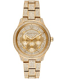 Michael Kors Women's Runway Gold-Tone Stainless Steel Bracelet Watch 38mm