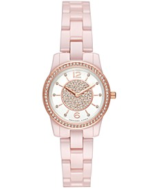 Women's Mini Runway Pink Stainless Steel Bracelet Watch 28mm