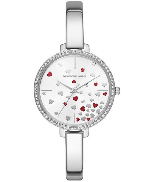 8834530cdb22 ... Michael Kors Women s Jaryn Stainless Steel Bangle Bracelet Watch ...