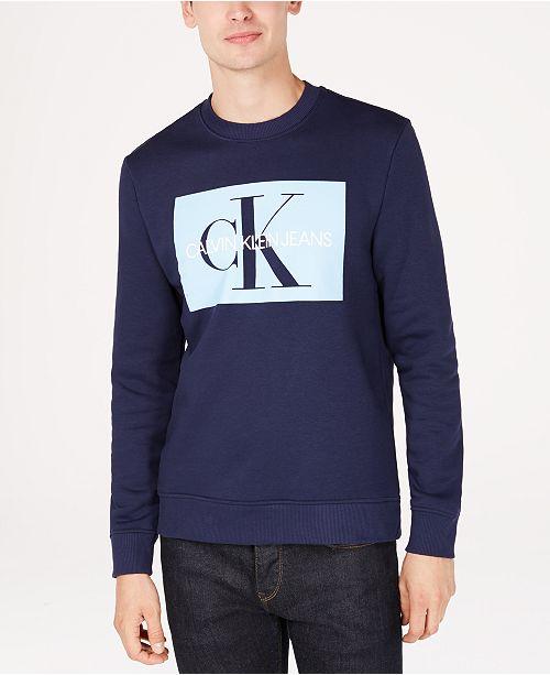 46b8c2318a2c Calvin Klein Jeans Men s Monogram Sweatshirt   Reviews - Hoodies ...