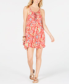 Roxy Juniors' Softly Love Printed Cover-Up Dress