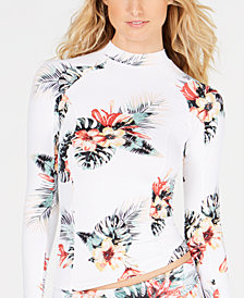 Roxy Juniors' Floral-Print Rash Guard