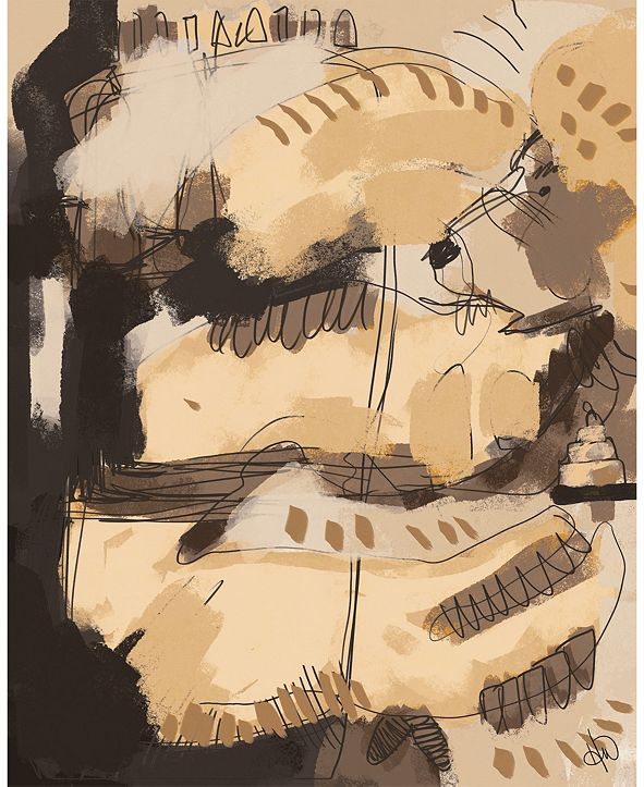 """Creative Gallery Neutral Snake And Lion Abstract 16"""" X 20"""" Acrylic Wall Art Print"""