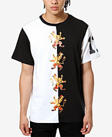 ARTISTIX Men's Family Crest Colorblocked Graphic T-Shirt