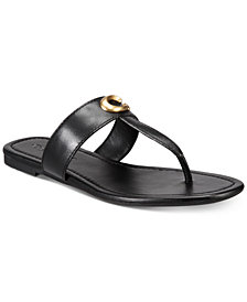 COACH Jessie Buckle Thong Sandals