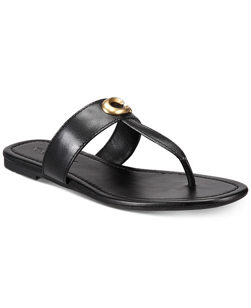924ddf4d637 COACH Jessie Buckle Thong Sandals   Reviews - Sandals   Flip Flops ...