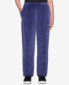Alfred Dunner Petite Comfortable Situation Velour Jogger Pants