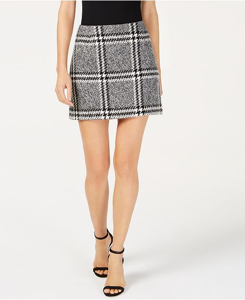 5a4405e62e Rachel Zoe Plaid Faux-Leather-Trim Mini Skirt & Reviews - Skirts ...