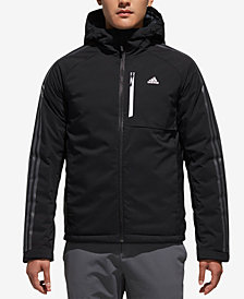 adidas Men's Three-Stripe Hooded Down Jacket