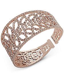 Anne Klein Crystal Openwork Cuff Bracelet