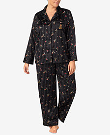 Lauren Ralph Lauren Plus Size Satin Pajama Set