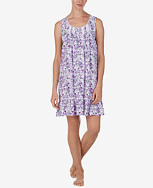 Eileen West Floral-Print Chemise