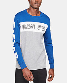 G-Star Raw Colorblocked Graphic Long-Sleeve Tee